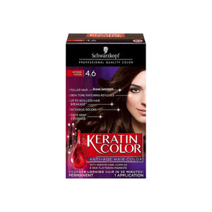 Schwarzkopf Keratin Color Anti-Age Hair Color, Intense Cocoa [4.6] 1 ea