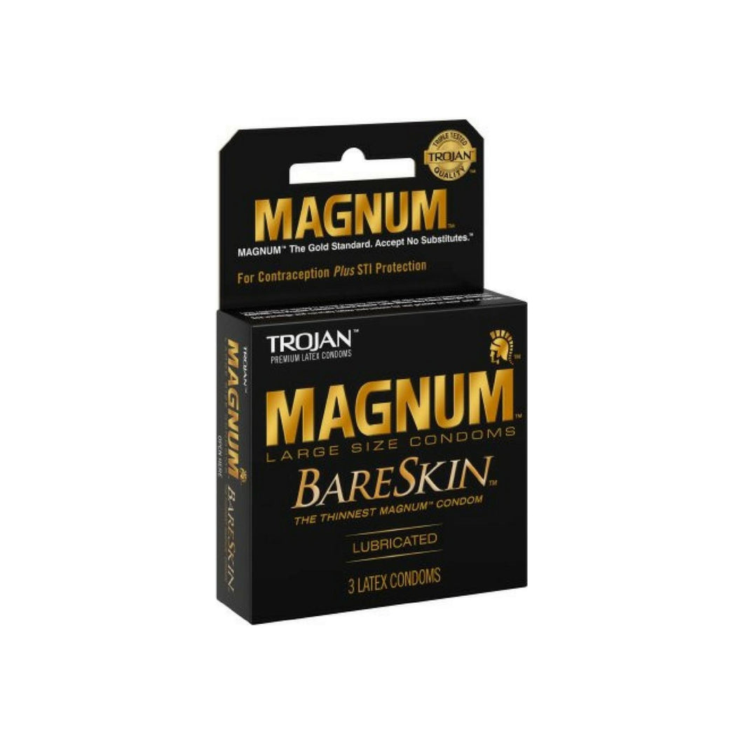 TROJAN Magnum Bareskin Lubricated Condoms 3 ea