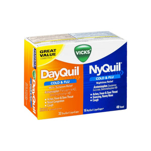 Vicks DayQuil & NyQuil Cold & Flu Combo Pack LiquiCaps 48 Ct