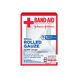 BAND-AID First Aid Rolled Gauze Sterile Roll, Small 1 ea