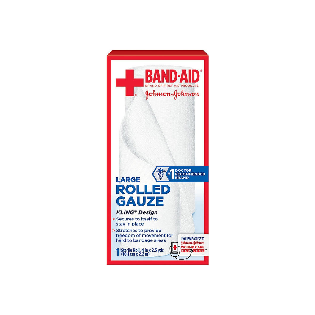 BAND-AID First Aid Rolled Gauze Sterile Roll, Large 1 ea