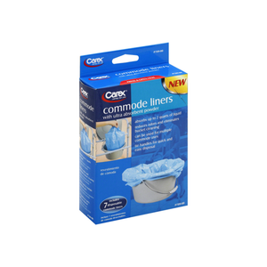 Carex Commode Liners with Ultra Absorbent Powder 7 ea