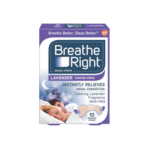 Breathe Right Scented Nasal Strips, Lavender 10 ea