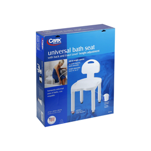 Carex Universal Bath Seat With Back 1 ea