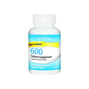 21st Century 600 Calcium Supplement Tablets 75 ea