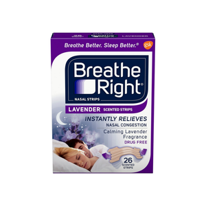 Breathe Right Scented Nasal Strips, Lavender 26 ea