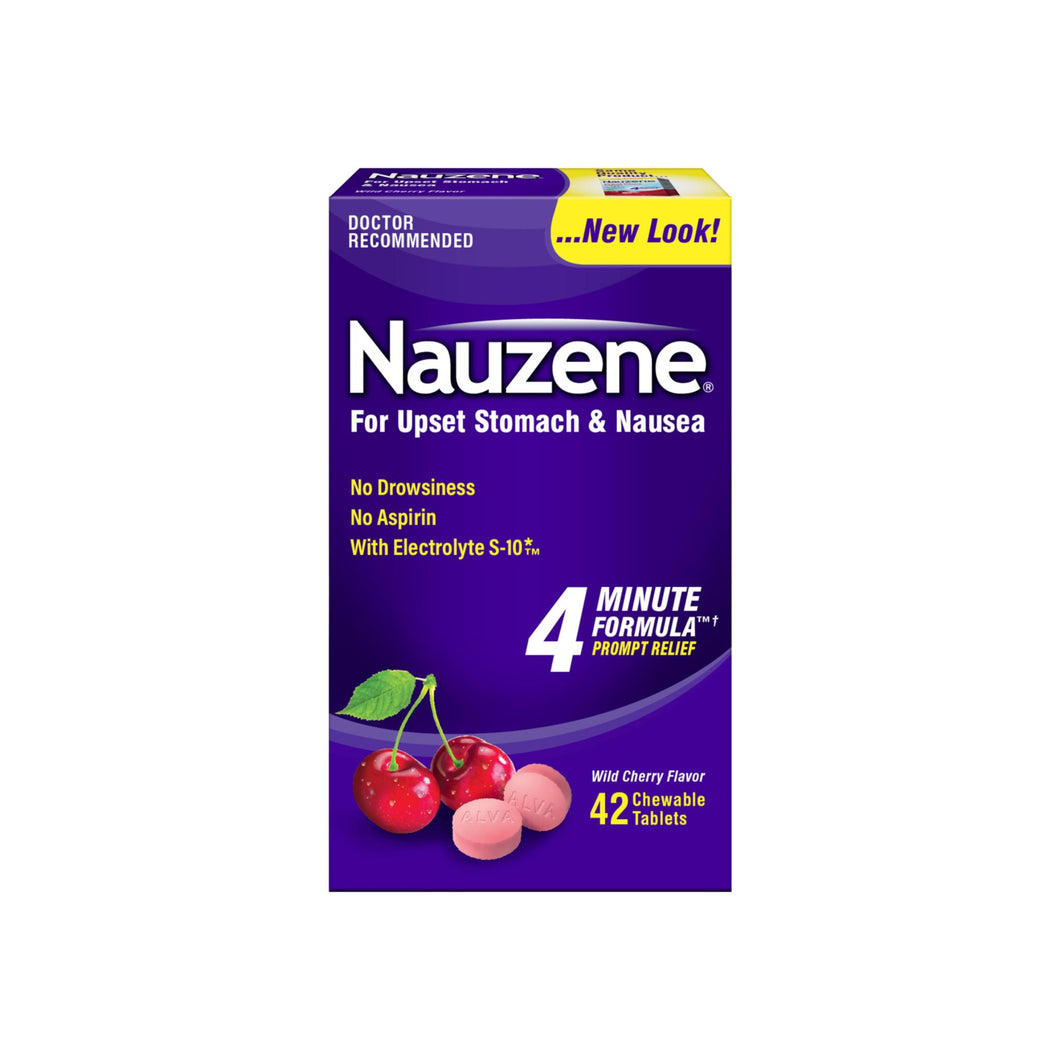 Nauzene Chewables Wild Cherry Flavor 40 Tablets