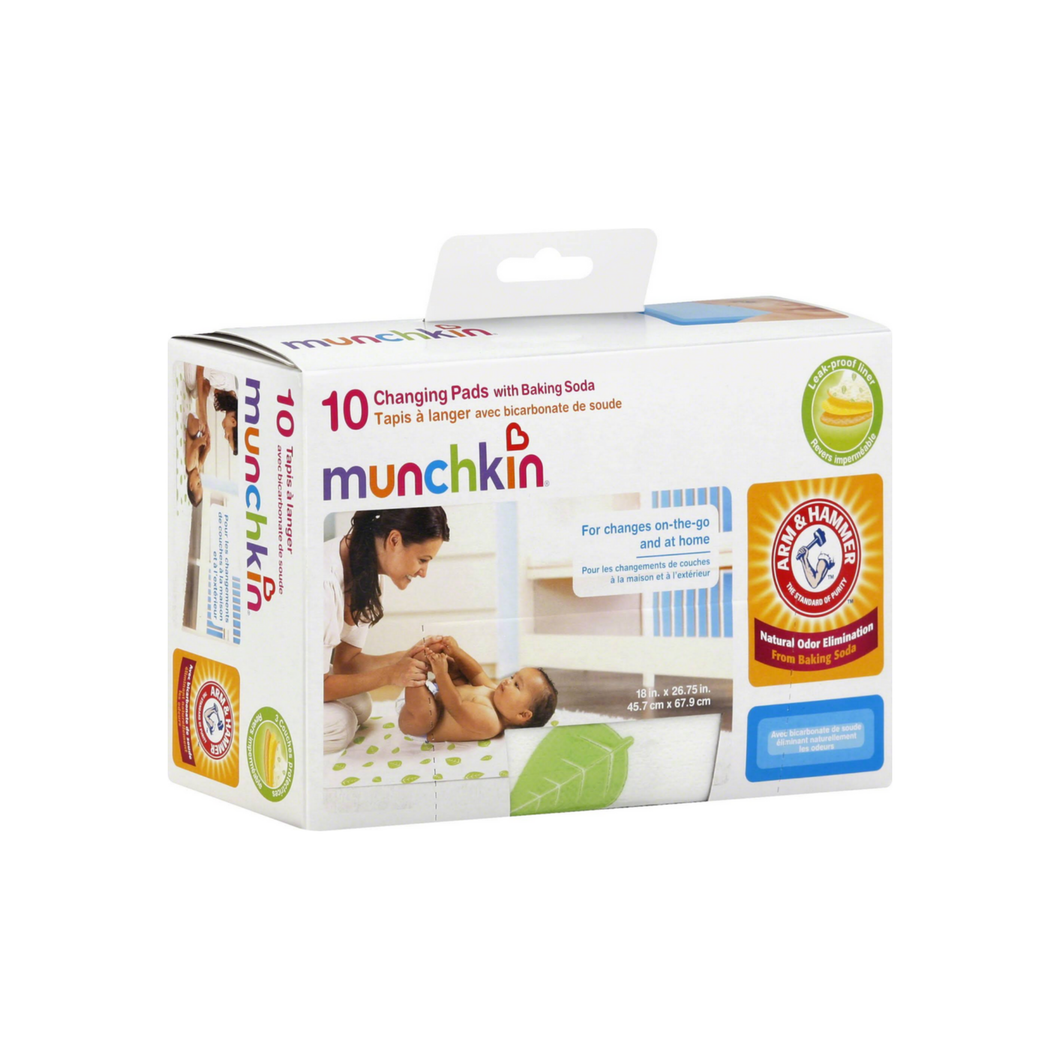 Munchkin Arm & Hammer Disposable Changing Pad with Baking Soda 10 ea