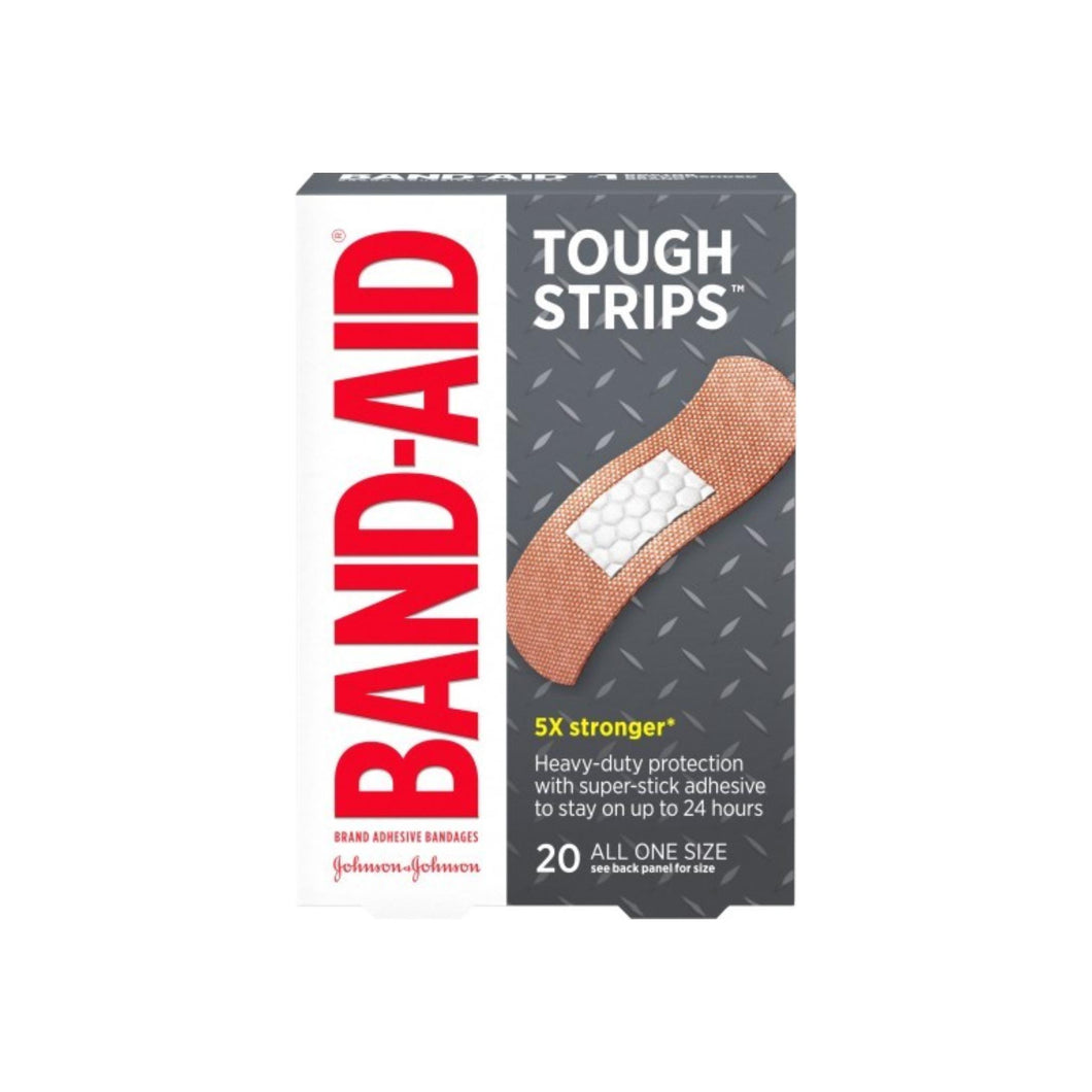 BAND-AID Tough-Strips Bandages All One Size 20 Each
