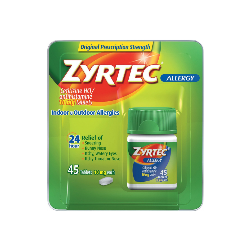 Zyrtec Allergy 10 mg Tablets 45 ea