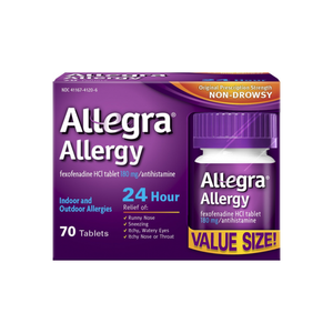 Allegra 24 Hour Allergy Tablets 70 ea