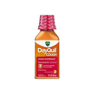 Vicks DayQuil Cough Suppressant, Soothing Tropical Blend Flavor 12 oz