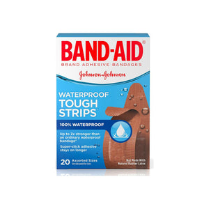 BAND-AID Bandages Waterproof Tough-Strips Assorted 20 ea