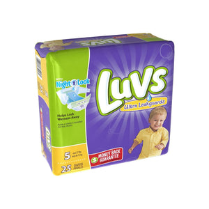 Luvs Ultra Leakguards Diapers with Night Lock, Size 5 25 ea