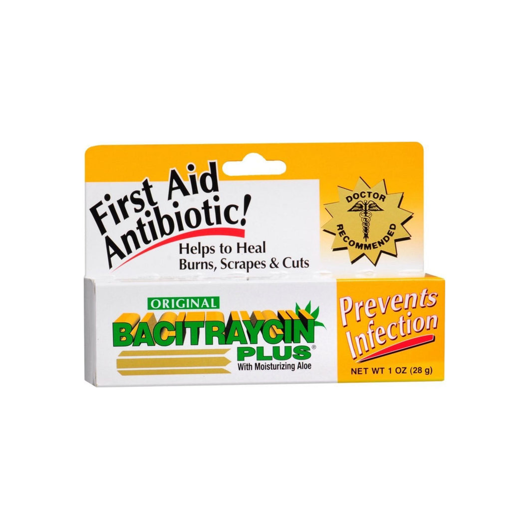 Bacitraycin Plus First Aid Antibiotic Ointment with Moisturizing Aloe 1 oz