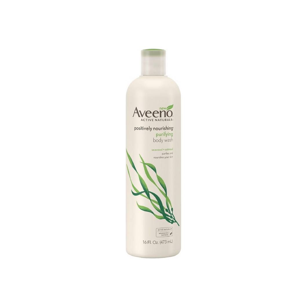 AVEENO Active Naturals Positively Nourishing Purifying Body Wash, Seaweed + Oatmeal 16 oz