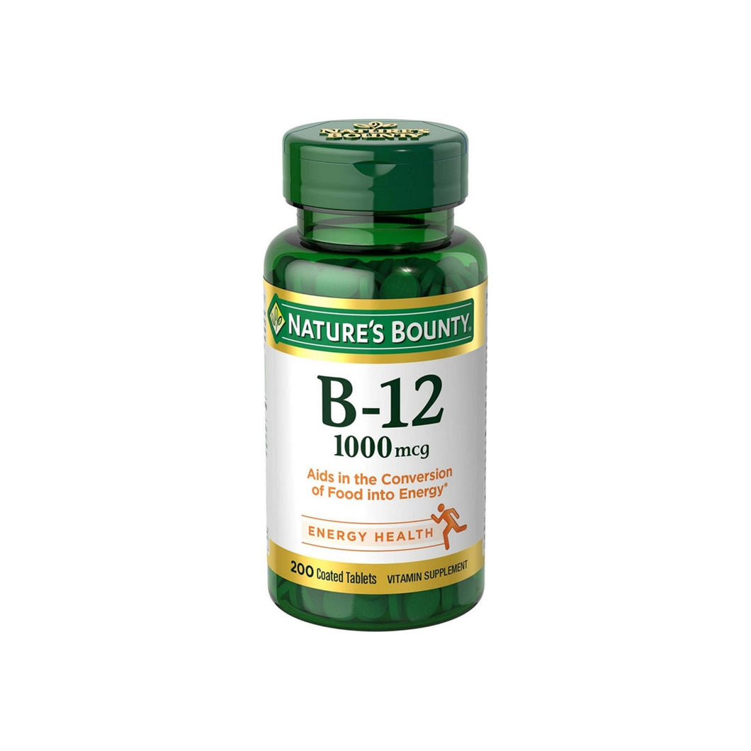 Nature's Bounty  Vitamin B-12 1000 mcg Coated Tablets 200 ea