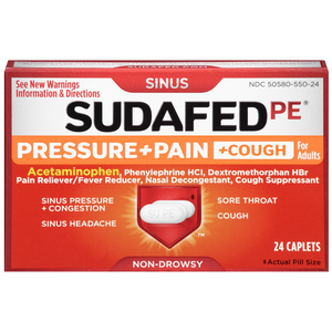 SUDAFED PE Pressure + Pain + Cough Non-Drowsy Caplets for Adults 24 ea - Pharmapacks