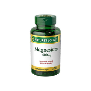 Nature's Bounty Magnesium 400 mg Softgel 75 ea