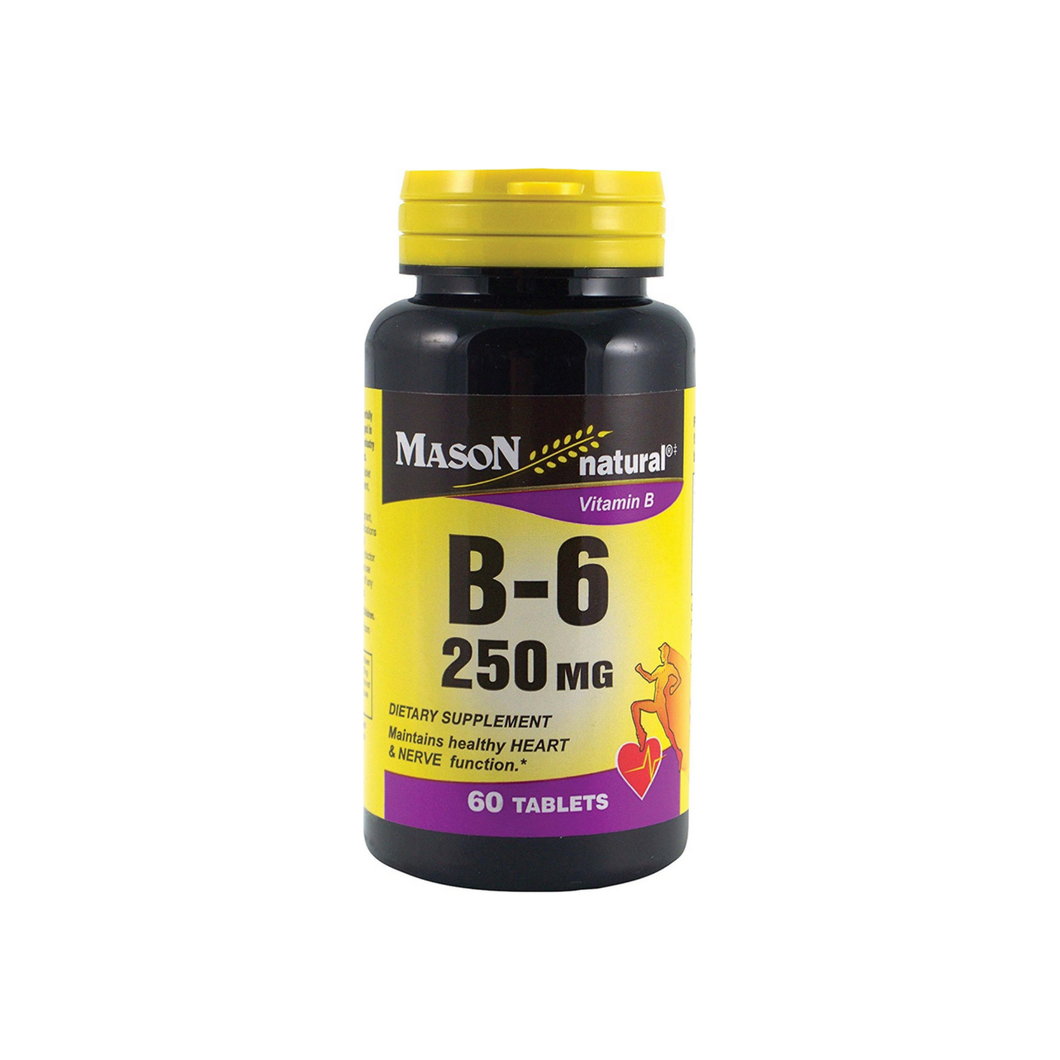 Mason Natural Vitamin B-6 250 mg Tablets 60 ea
