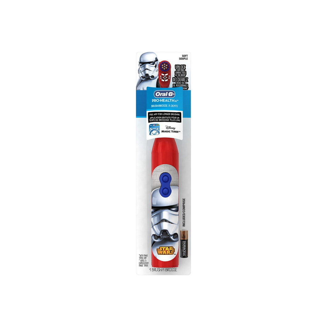 Oral-B Pro-Health Disney Star Wars Battery Toothbrush, Characters/Colors May Vary 1 ea