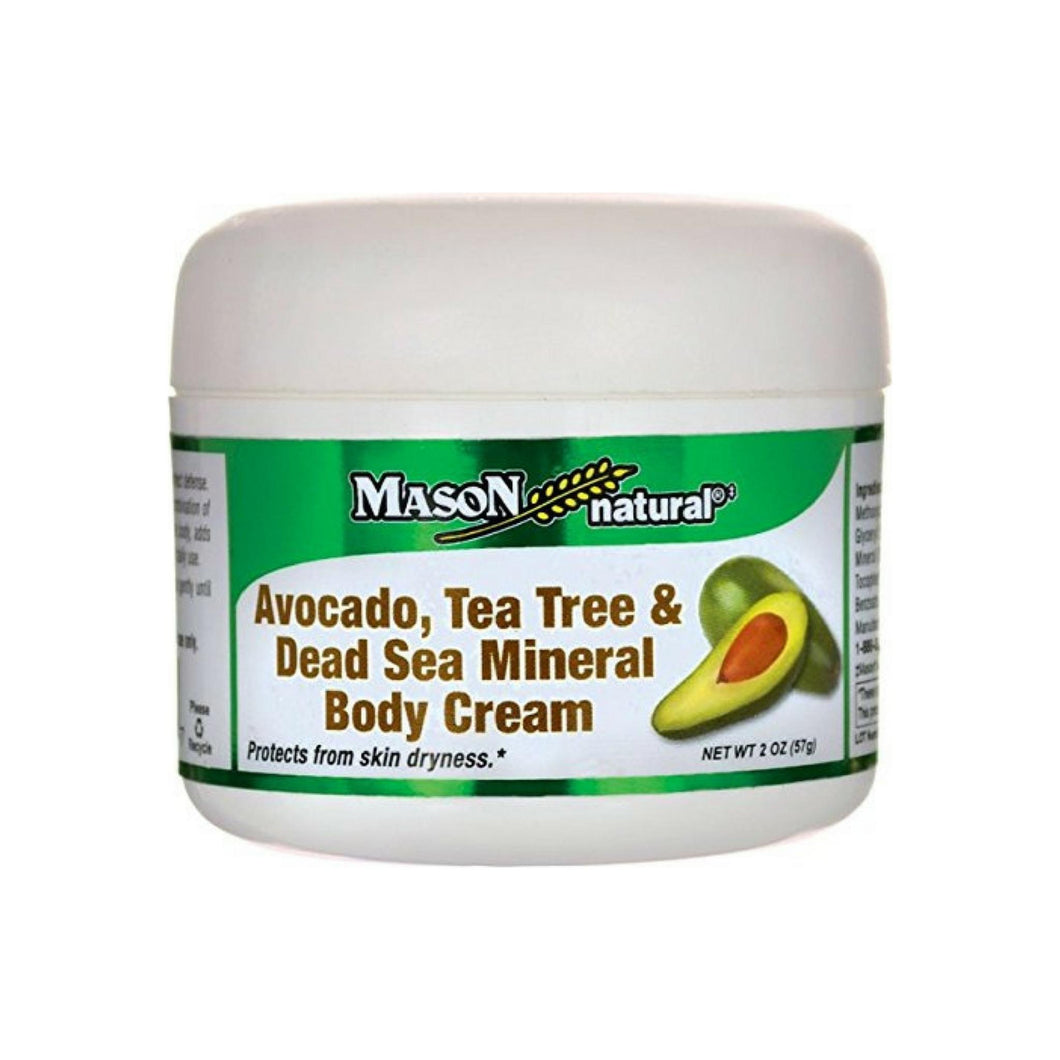 Mason Natural Avocado, Tea Tree & Dead Sea Mineral Body Cream 2 oz