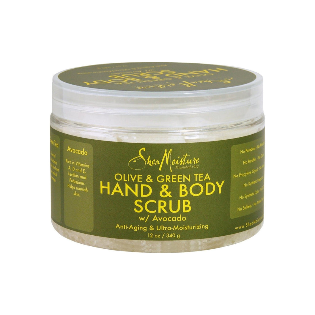 Shea Moisture Hand & Body Scrub, Olive & Green Tea 12 oz