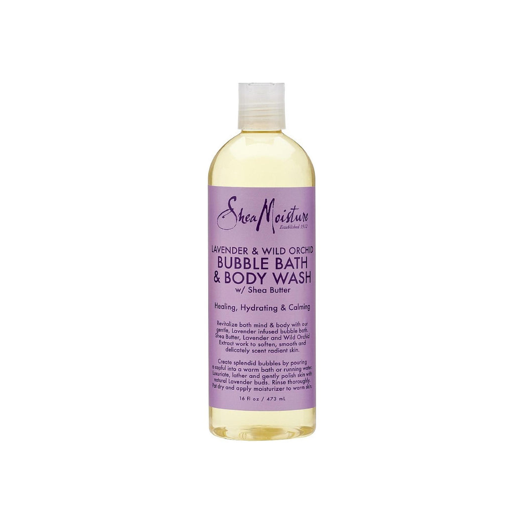 Shea Moisture Bubble Bath & Body Wash, Lavender & Wild Orchid 16 oz