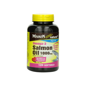 Mason Natural Omega-3 Salmon Oil 1000 mg Softgels 120 ea