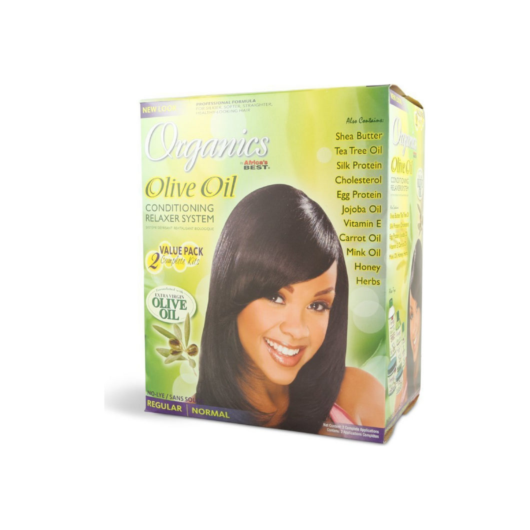 Africa's Best Organics Olive Oil Conditioning Relaxer System, Regular 2 ea