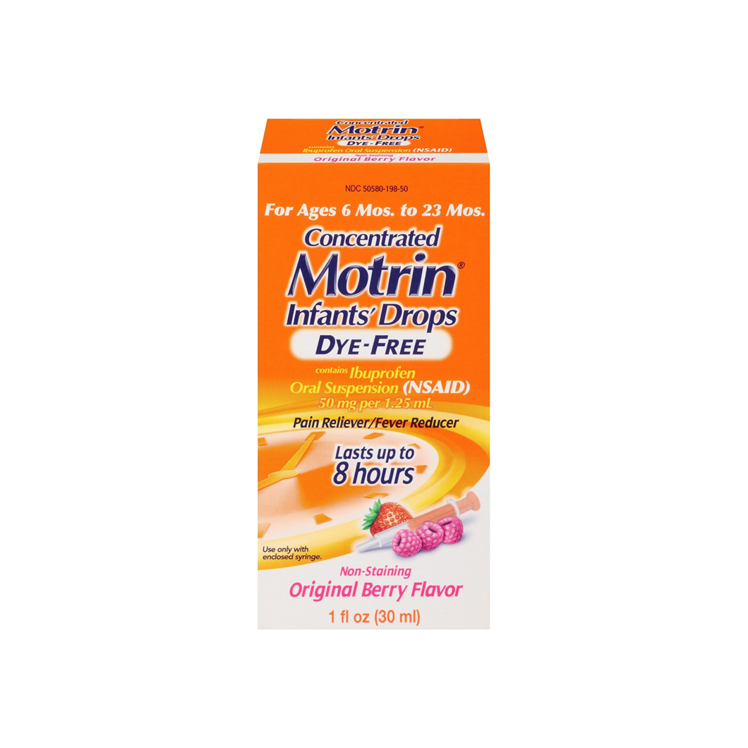 Motrin Concentrated Infants' Drops Dye-Free, Original Berry 1 oz