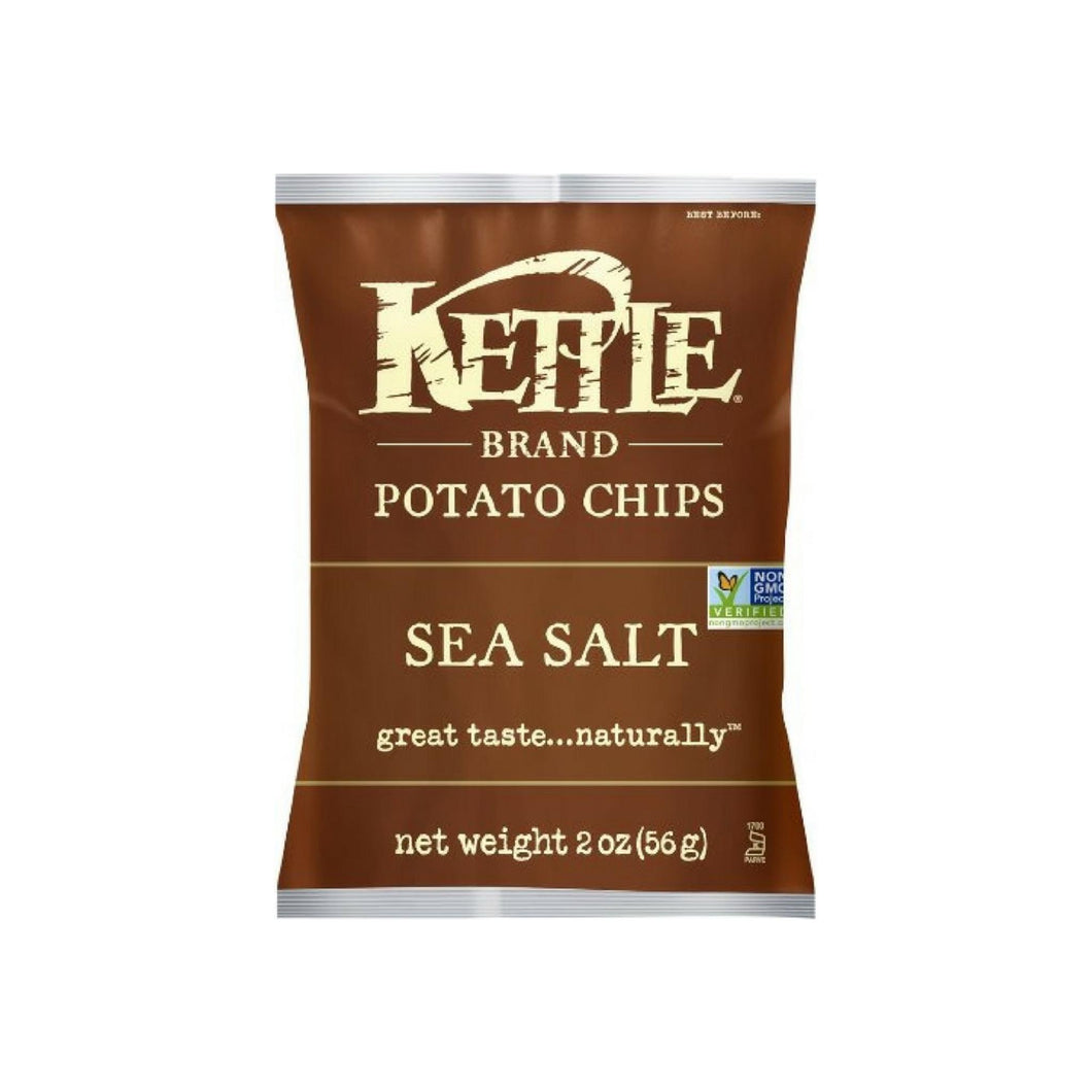 Kettle Brand Potato Chips, 2 oz bags, Sea Salt 24 bags
