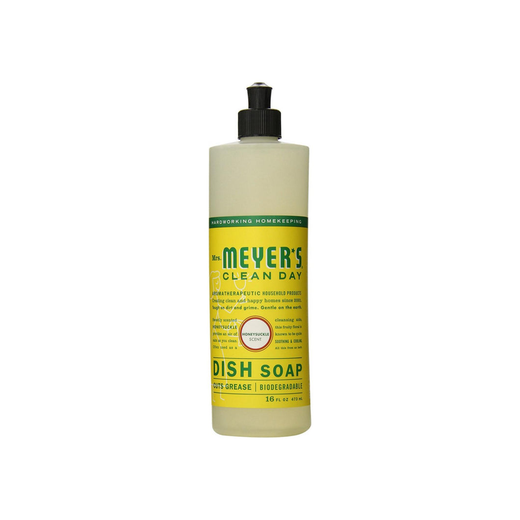 Meyers Clean Day Liquid Dish Soap, Honeysuckle Scent 16 oz