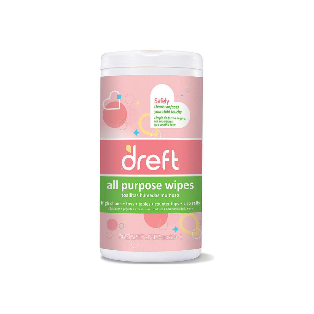 Dreft All Purpose Wipes 70 ea [814521010871]
