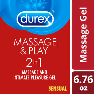 Durex Massage & Play 2 in 1 Lubricant, Sensual with Ylang Ylang 6.76 oz