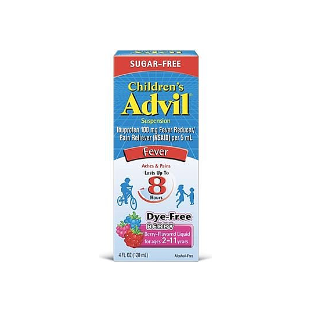 Advil Children's Suspension Sugar Free, Dye Free, Berry 4 oz