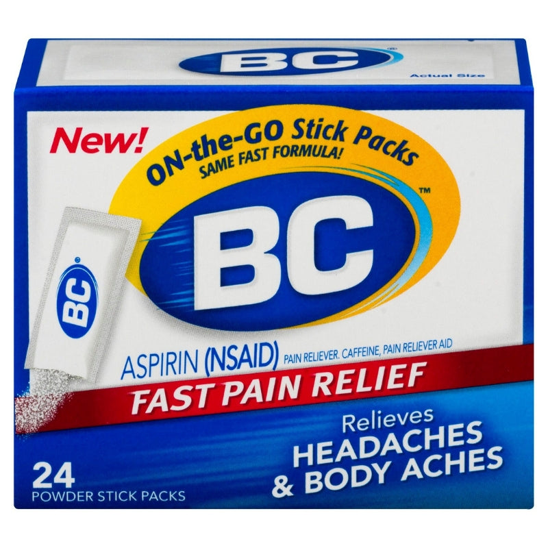 BC Original Formula Aspirin Fast Pain Relief Powders 24 ea