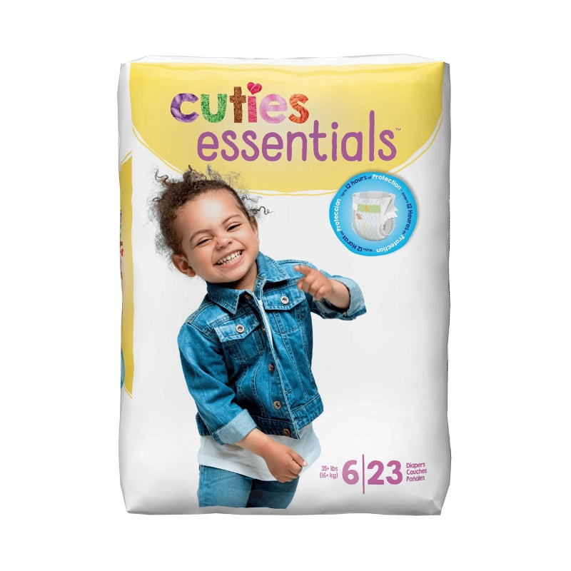 Cuties Premium Diapers Size 6 23 Each [4 packs per case]