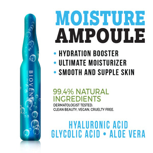 Biovène Moisture Ampoule, 0.05 oz (Pack of 4)- Serum Seals in Moisture, Hydrates & Brightens Skin. 99.4% Natural Ingredients