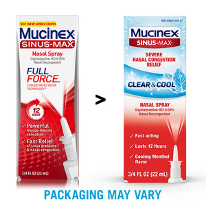 Mucinex Sinus-Max Full Force Nasal Decongestant Spray 0.75 oz