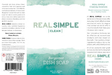 Load image into Gallery viewer, Real Simple Clean Liquid Dish Soap, Plant-Based Formula, Natural Essential Oil Infused, Cruelty Free and Made in USA, Bergamot, 16 oz