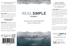 Load image into Gallery viewer, Real Simple Clean Granite Countertop Rejuvenator, Returns the Natural Shine to Your Home Granite Surface, Made in USA, Lavender, 24 oz