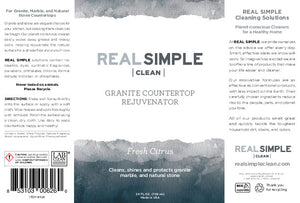 Real Simple Clean Granite Countertop Rejuvenator, Returns the Natural Shine to Your Home Granite Surface, Made in USA, Lavender, 24 oz