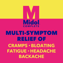 Load image into Gallery viewer, Midol Complete Maximum Strength Pain Reliever Caplets 40 ea