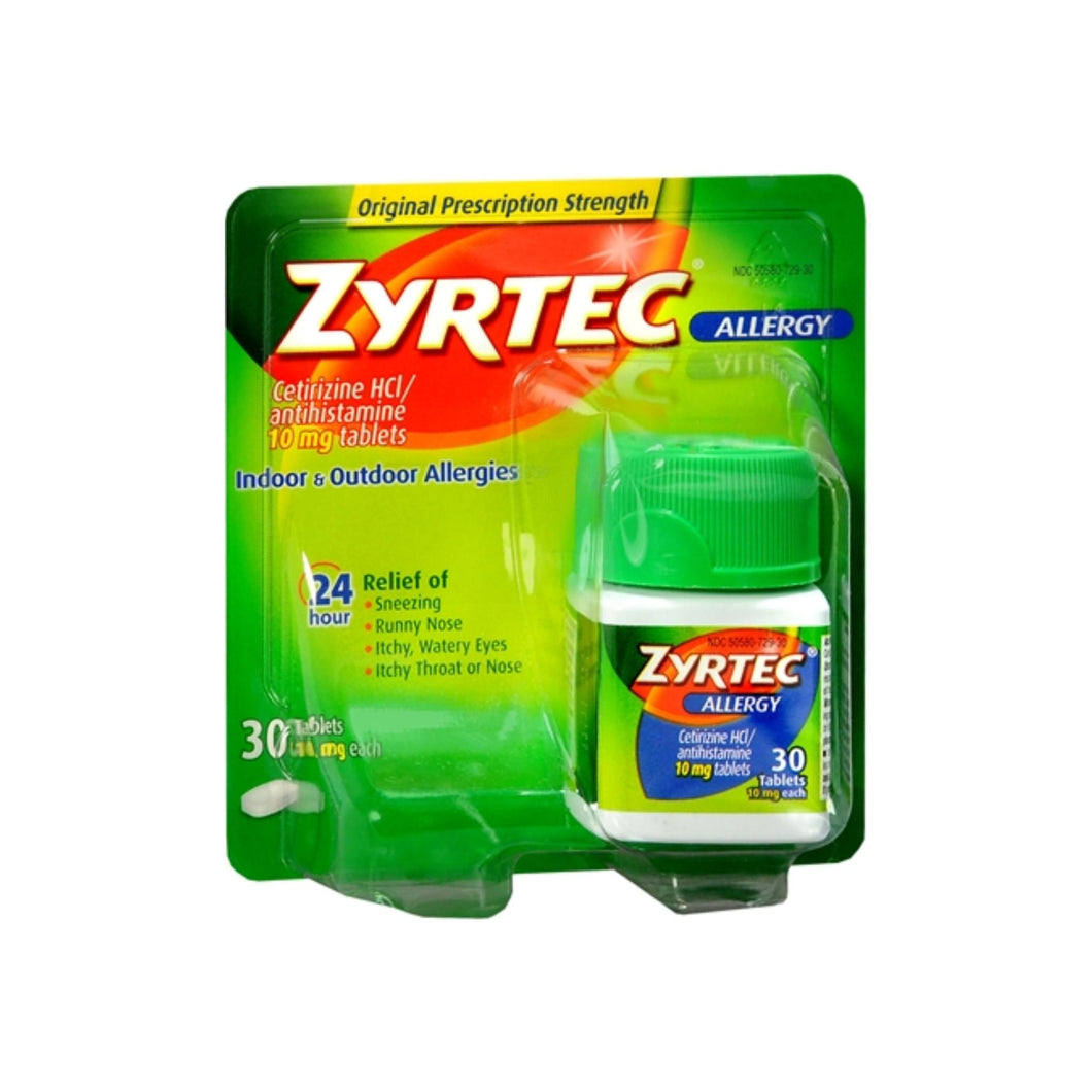 Zyrtec Allergy 10 mg Tablets 30 ea