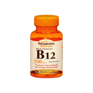 Sundown B-12 1500 mcg Tablets Time Release 60 Tablets