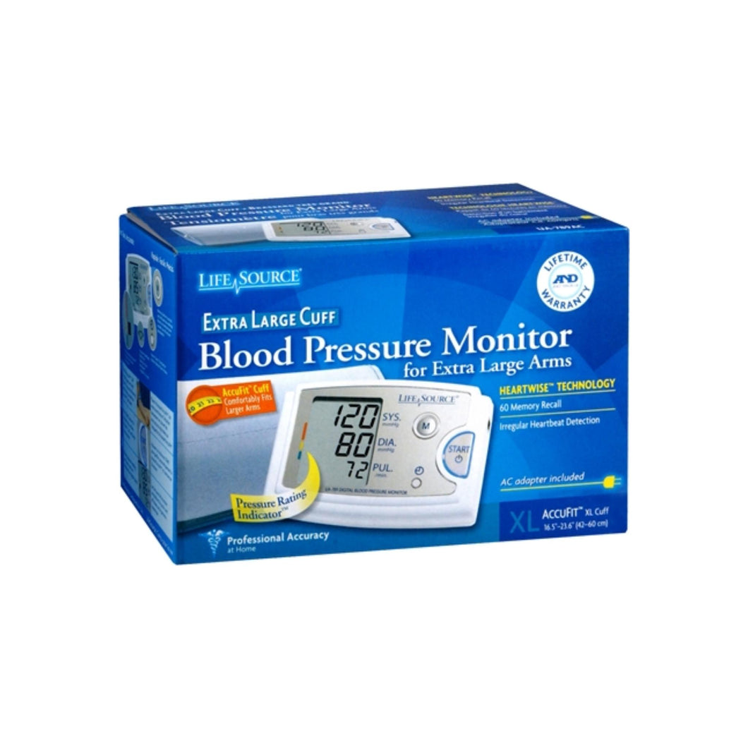 LifeSource Blood Pressure Monitor Extra Large Cuff UA-789AC 1 Each