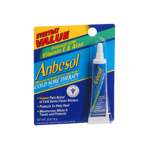 Anbesol Cold Sore Therapy Ointment 0.33 oz