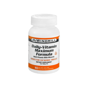 Windmill Daily Vitamin Tablets Maximum Formula 100 Tablets