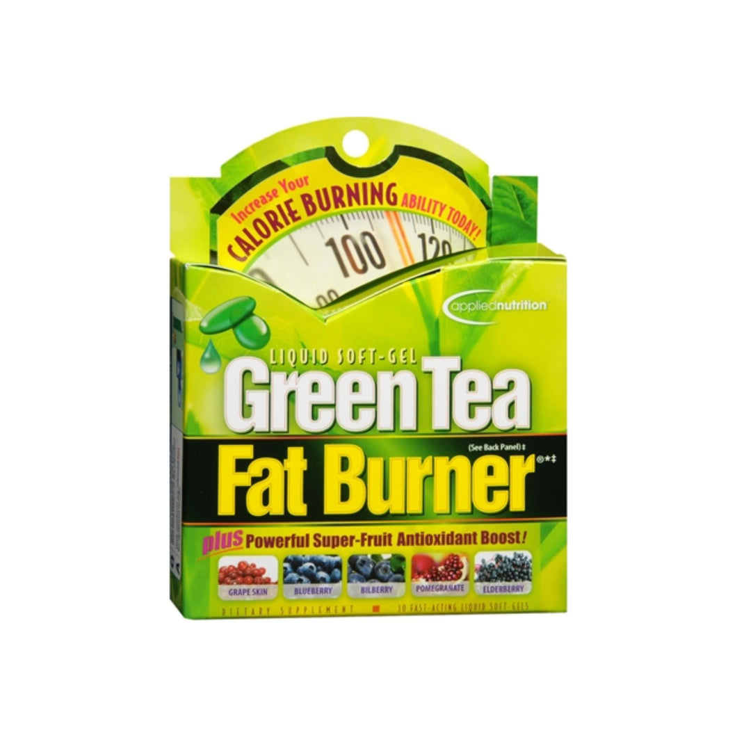 Applied Nutrition Green Tea Fat Burner Liquid Soft-Gels 30 Soft Gels